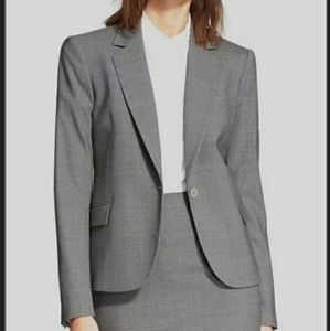 THEORY Dief Pure Flannel Wool Gray Blazer size 0